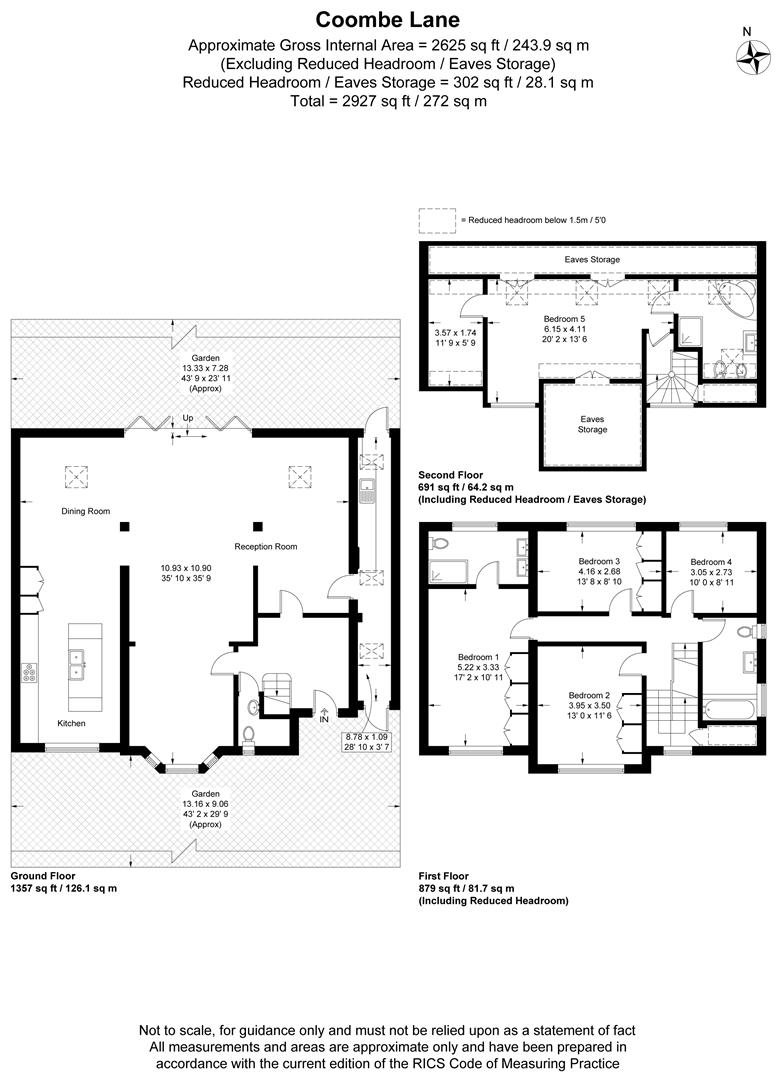 Floorplan for Coombe Lane, Wimbledon